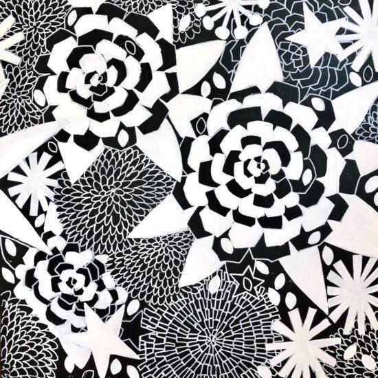 ART PORTABLE AUKIO GALERIE STARNBERGER SEE SUSANNA LADDA STRANZINGER BILDER SCHWARZ WEISS BLACK AND WHITE COSMIC GARDENS GERMANY MUNICH MÜNCHEN SWEDEN SCHWEDEN STOCKHOLM