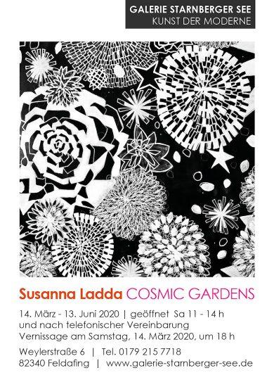 VERNISSAGE GALERIE STARNBERGER SEE SUSANNA LADDA COSMIC GARDENS