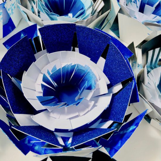 susanna ladda paper objects flower shower papierobjekte pappersobjekt nordsee meets bavaria! aukio galerie starnberger see germany