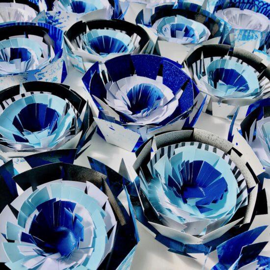 susanna ladda paper objects flower shower papierobjekte pappersobjekt nordsee meets bavaria! aukio galerie starnberger see germany