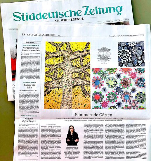 susanna ladda cosmic gardens galerie starnberger see süddeutsche Zeitung May 16 17, 2020